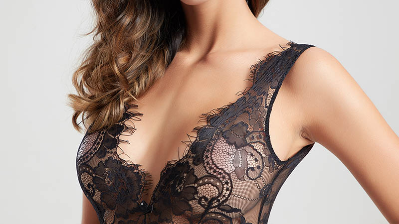 Besung back lace underwire bodysuit free design for wife-4