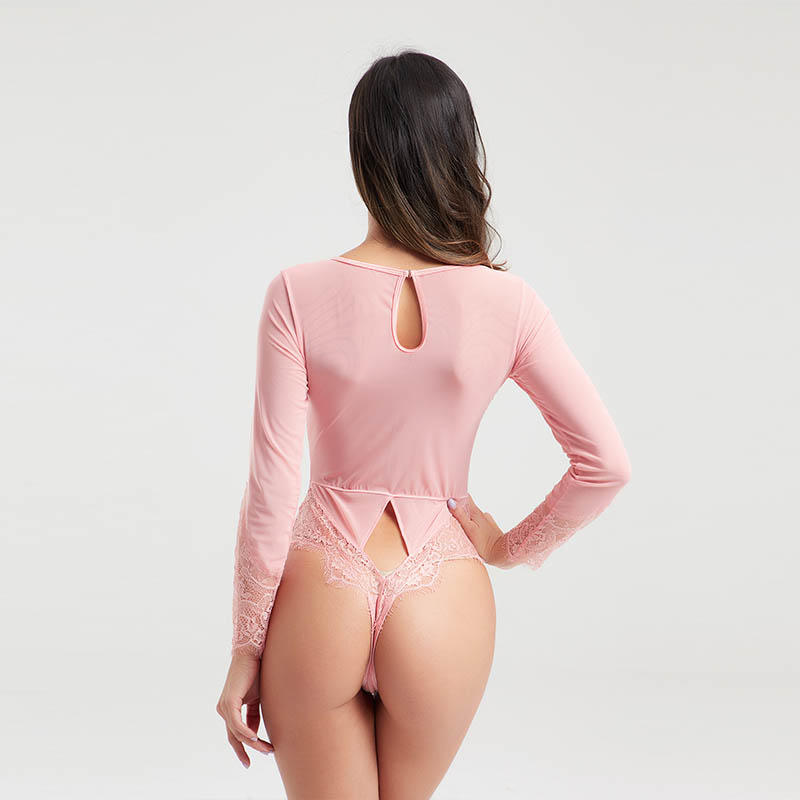 Popular mesh transparent long sleeve lingerie BSQ170