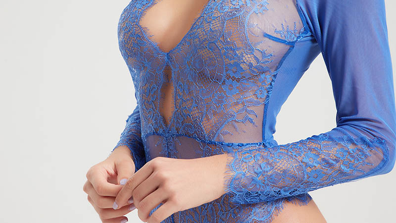 Besung dot lace body suits from manufacturer for women-4
