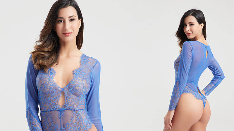 Besung hollow lace underwire bodysuit wholesale for wife-5