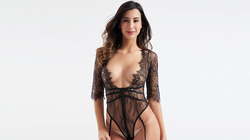 Besung unique plus size lace bodysuit buy now for wife-4