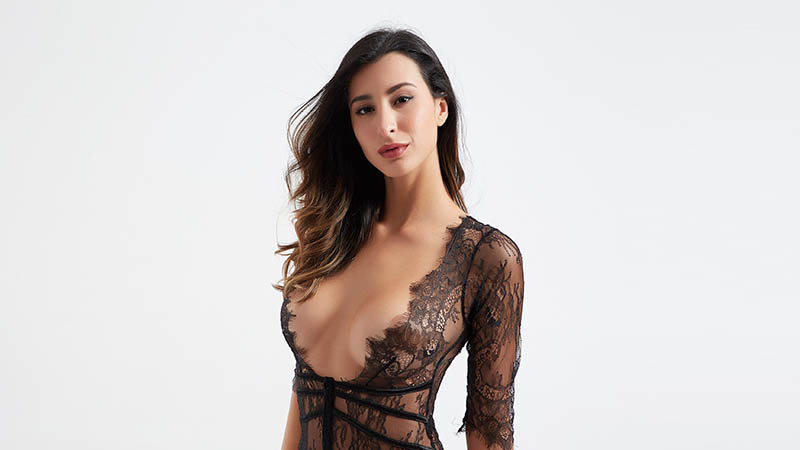 Besung unique plus size lace bodysuit buy now for wife-5