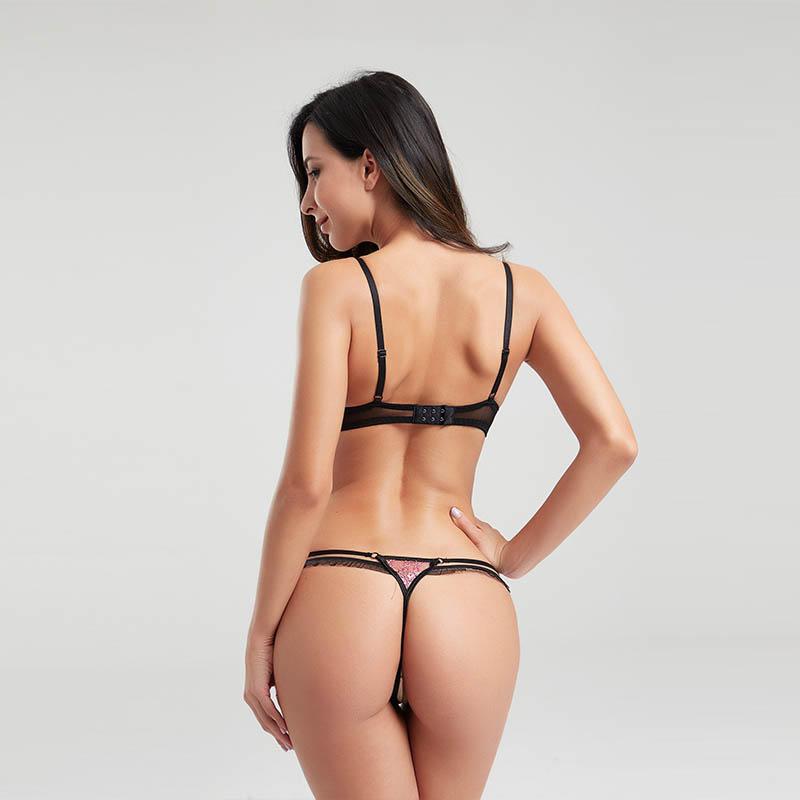OEM&ODM eyelash lace two-piece sexy bra set BSQ167