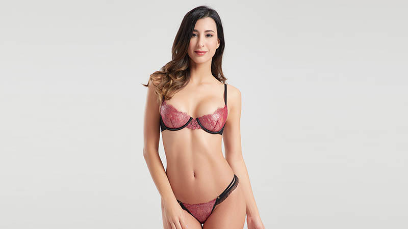 Besung contrast hot lingerie for Home for wife