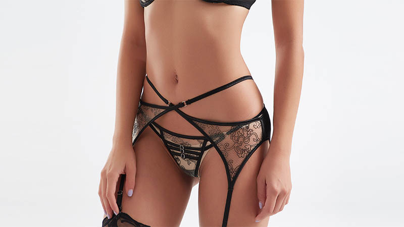 Fashionable transparent mesh design sexy bra and panty sets BSQ181-5
