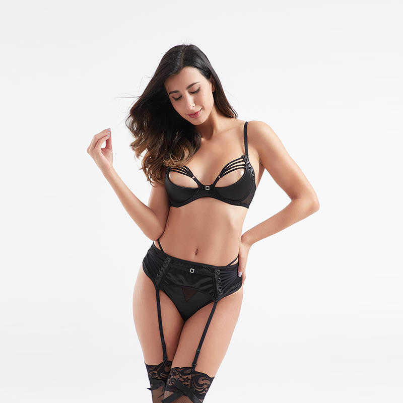 OEM&ODM front & back threading rope two-piece set sexy underwear BSQ185