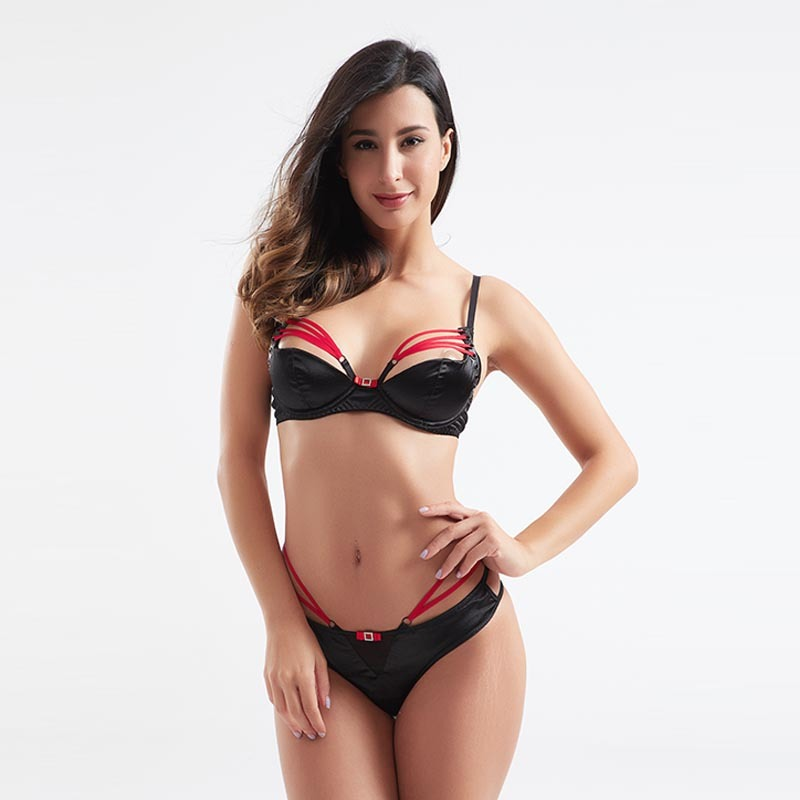 High quality contrast color sexy panty two-piece set sexy underwear BSQ185