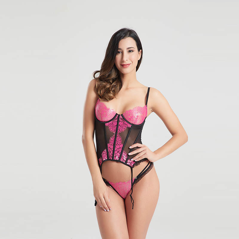 OEM&ODM gold lace garter sexy underwear BSQ166