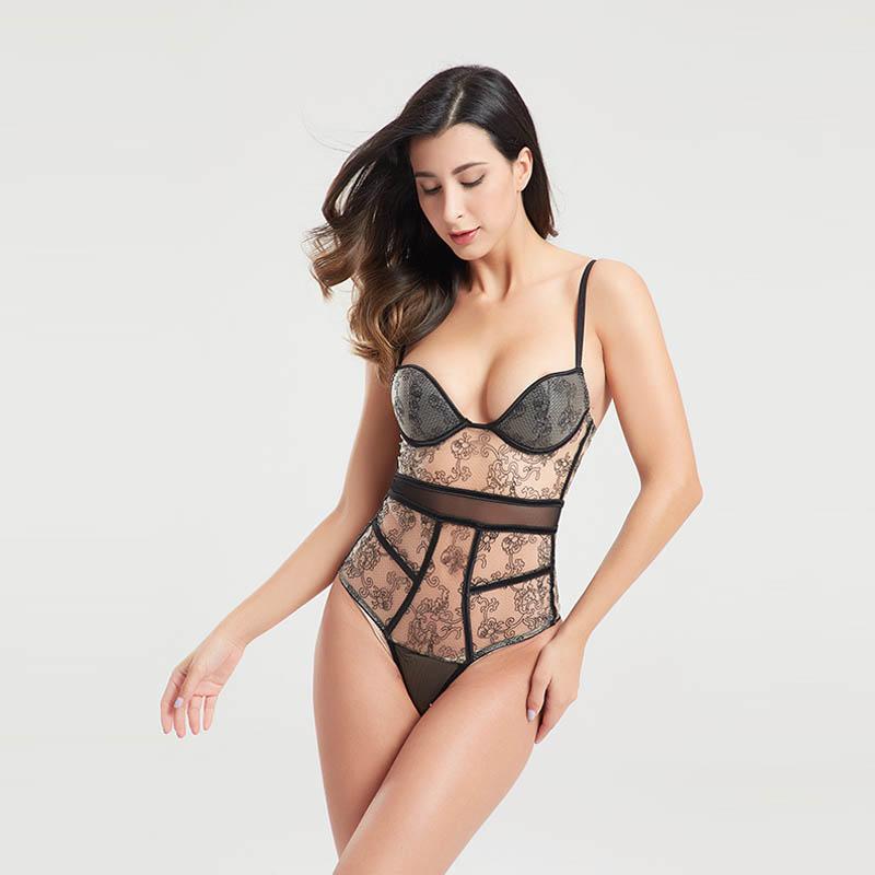 Lace black mesh decorative woven tape sexy corset BSQ168