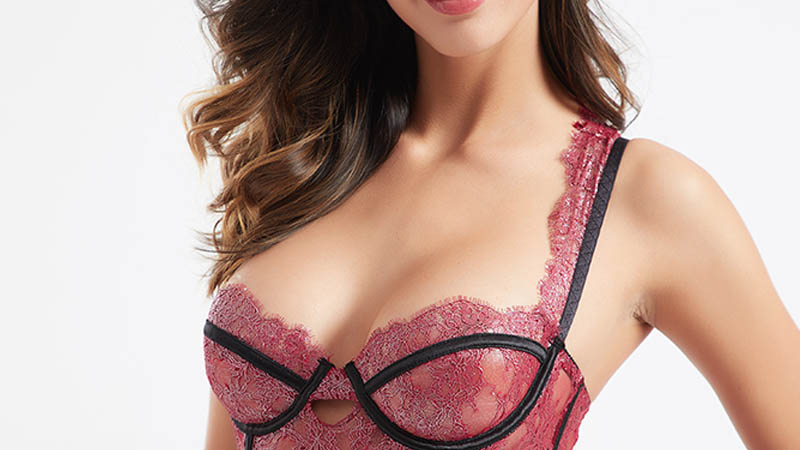 Besung red corset sexy underwear for wife-4
