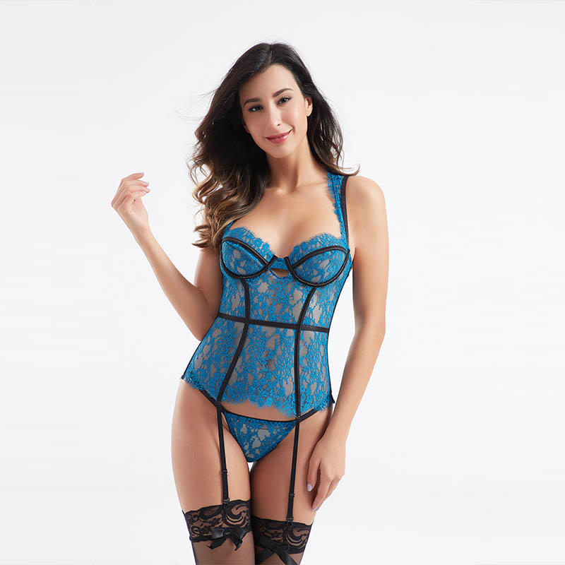 OEM & ODM lace symmetry sexy corset sets BSQ175