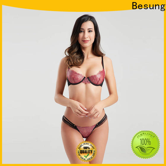 Besung low price lace lingerie from manufacturer for hotel