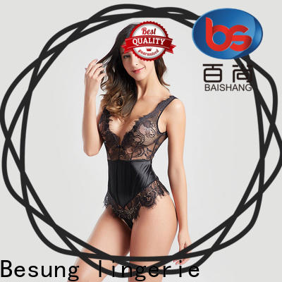 Besung back lace underwire bodysuit free design for wife