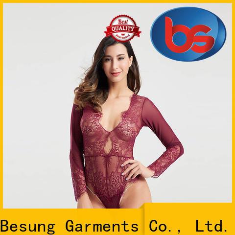 Besung back teddy clothing bodysuit for women