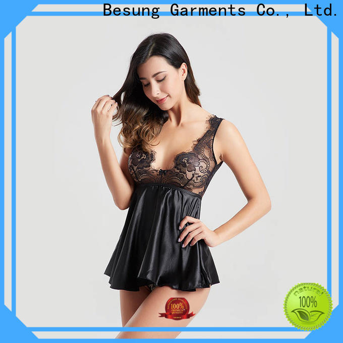 Besung hot-sale black bodysuit outfit factory for wife