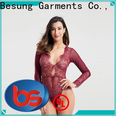 Besung hot-selling yellow lace bodysuit at discount for women