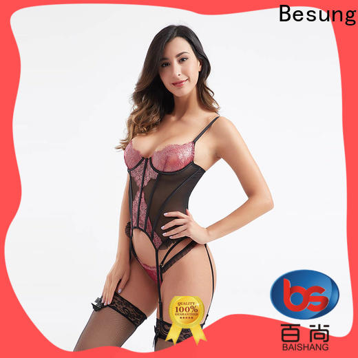 Besung transparent pink corset factory for women