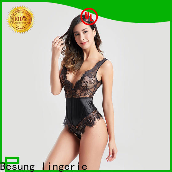 Besung backless nude lace bodysuit lingerie for hotel