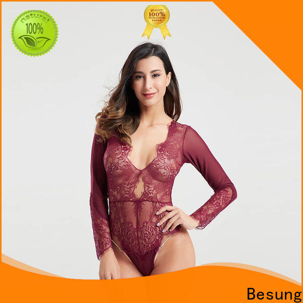 Besung purple womens lace bodysuits inquire now for home