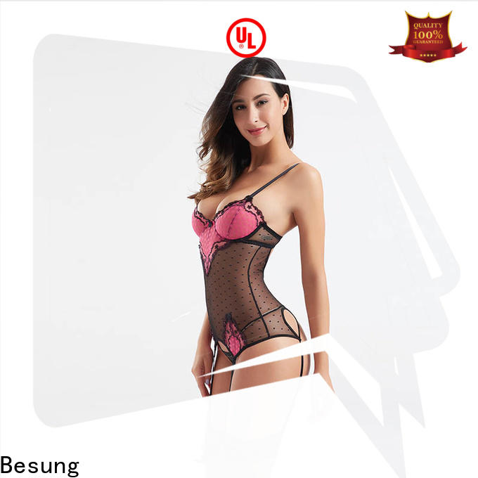 Besung ladies red teddy bodysuit for hotel