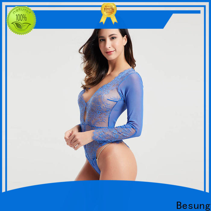 Besung hollow lace underwire bodysuit wholesale for wife