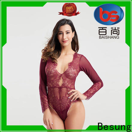 Besung fine-quality strappy bodysuit wholesale for wife