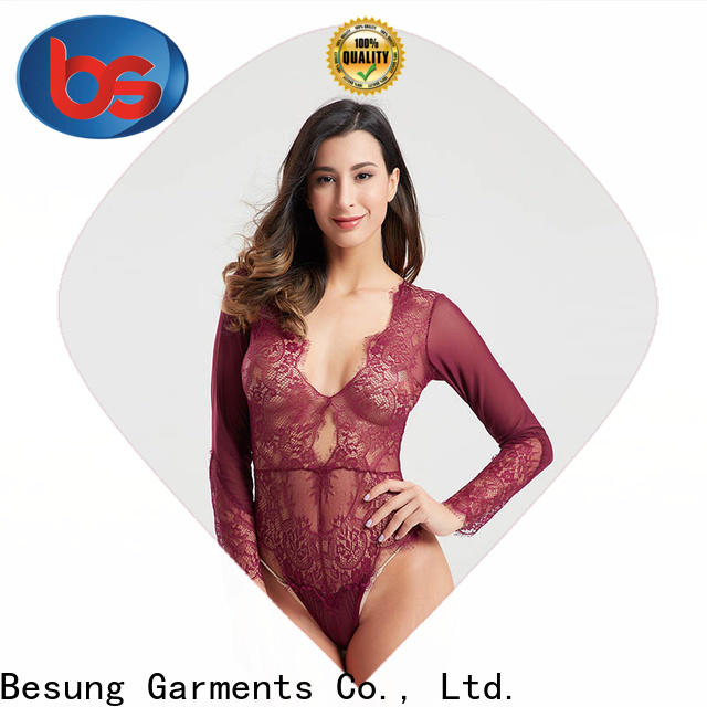 Besung top lace underwire bodysuit lingerie for women