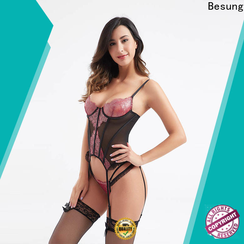 Besung black corset underwear underwear for home