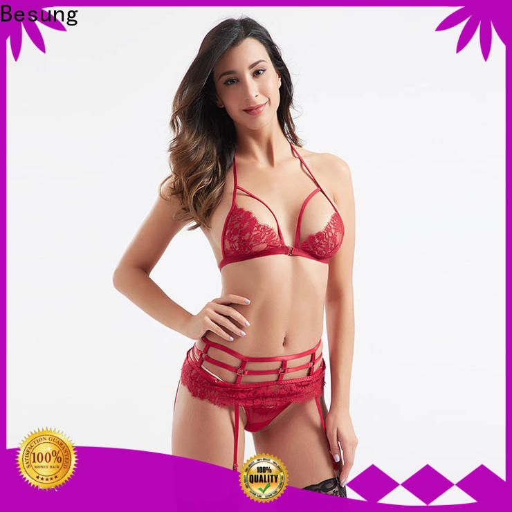 Besung contrast hot lingerie for Home for lover