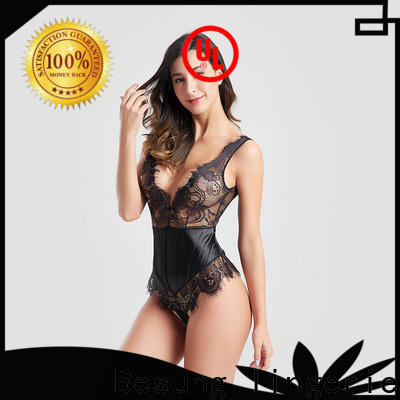 Besung backless teddy underwear wholesale for hotel