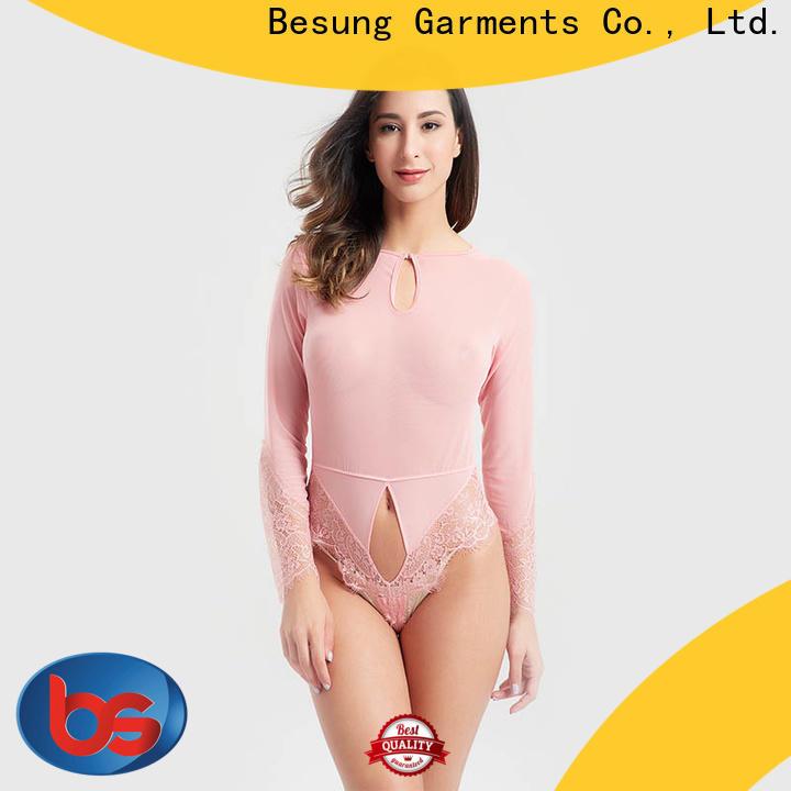 Besung custom black corset bodysuit production for lover