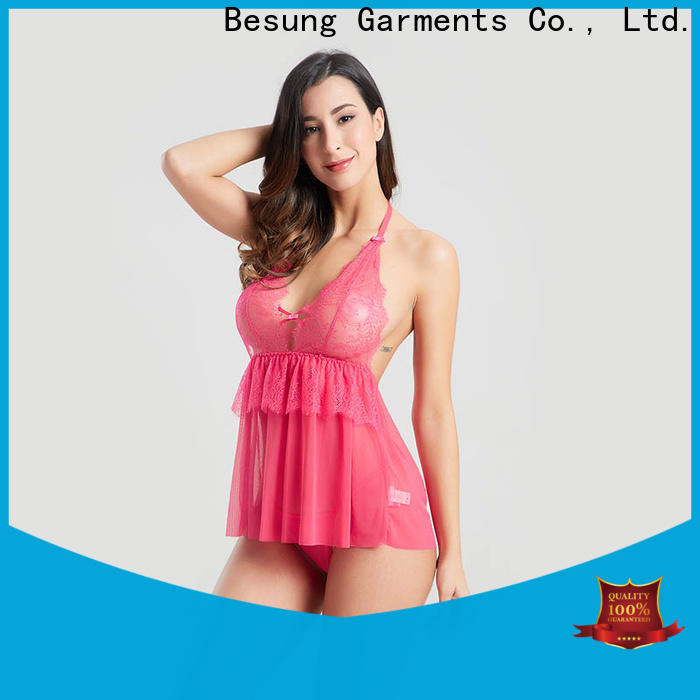 Besung low price black lace body inquire now for wife