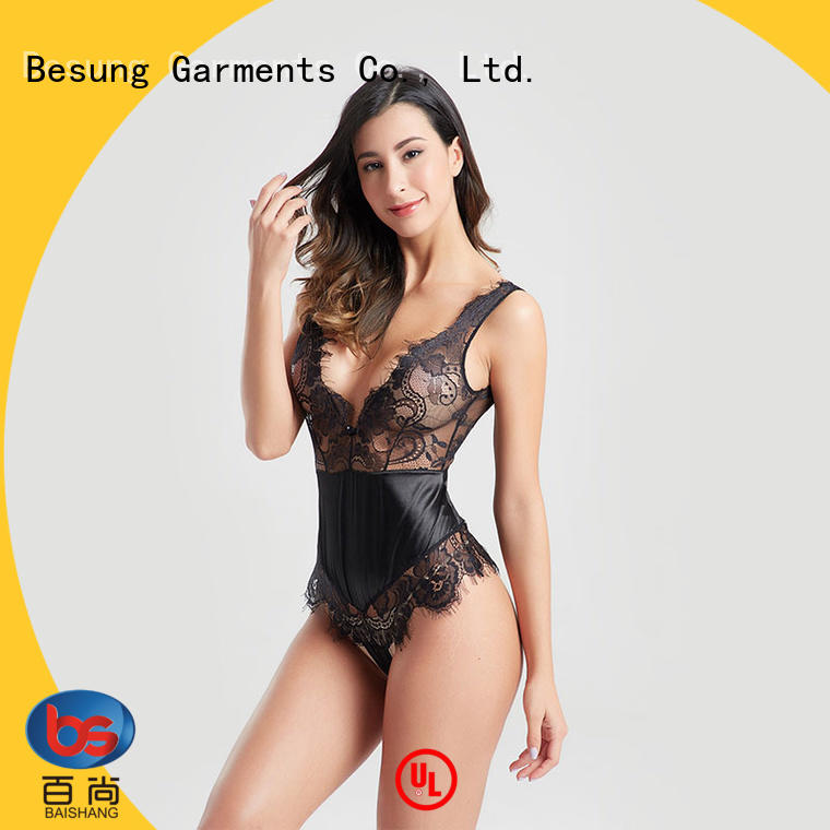 ladies sexy black bodysuit newest for home Besung