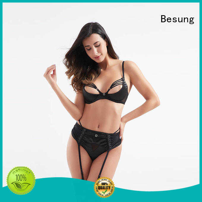neck silk lingerie front for lover Besung