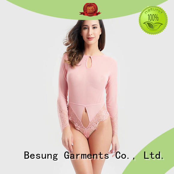 Besung satin tan bodysuit production for home