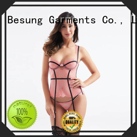hot-sale lace corset red from manufacturer for lover
