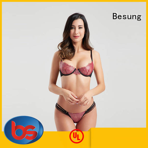 Besung low cost nude lingerie lace for hotel
