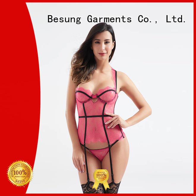 oem steel boned corset woven underwear for women