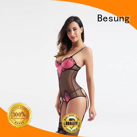 Besung shaped sexy black bodysuit bodysuit for lover