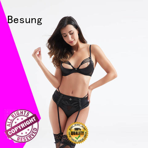 Besung hot-selling sexy red lingerie set hollow for hotel
