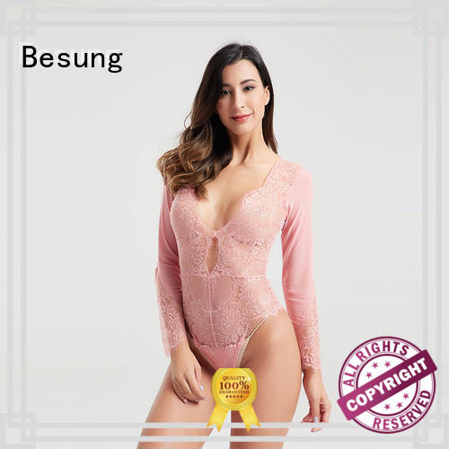 Besung underwire backless bodysuit free design for wife