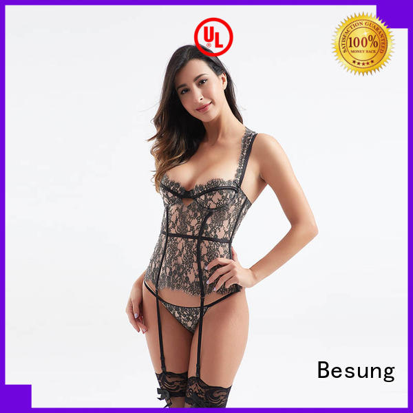Besung transparent white corset top factory price for home