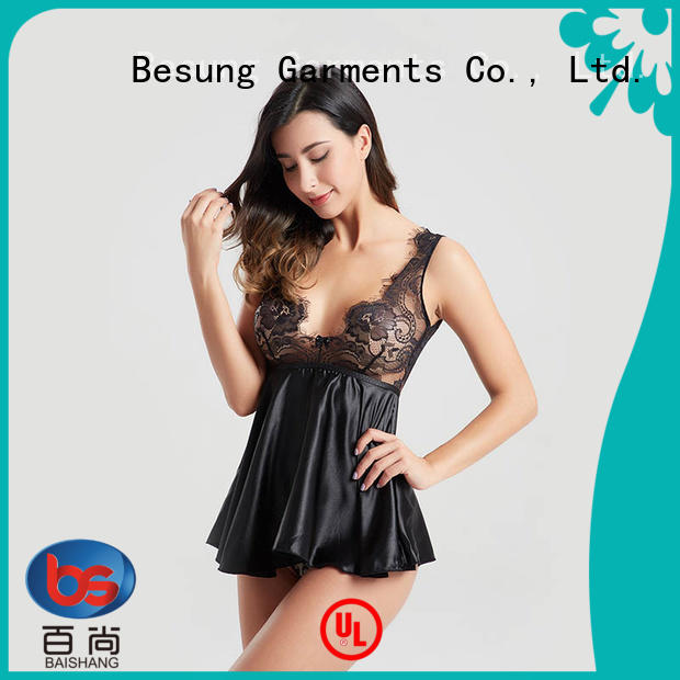 Besung out plus size lace bodysuit lingerie for women