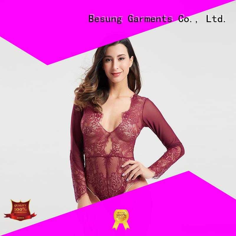 Besung simple design teddy underwear from manufacturer for women