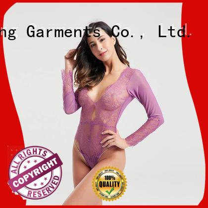 popular garter sheer bodysuit satin Besung