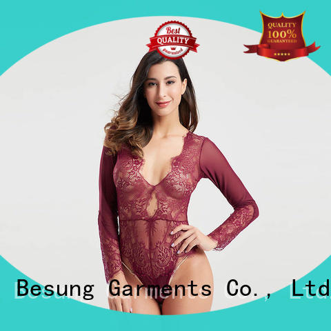Besung hollow black lace body check now for hotel