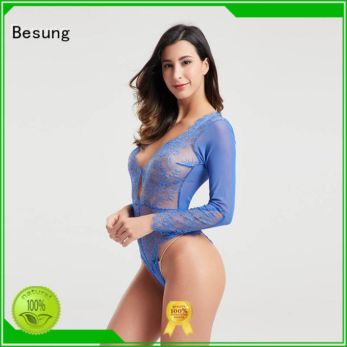 simple design red lace bodysuit back at discount for wife