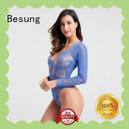 Besung ladies red lace bodysuit bodysuit for wife