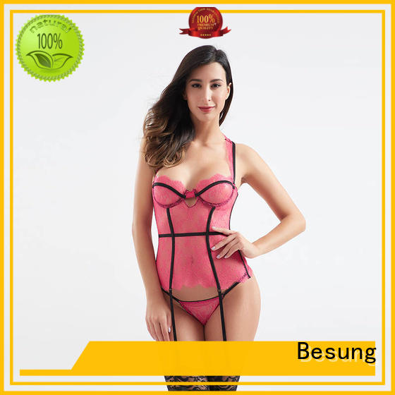 Besung mesh leather corset buy now for women