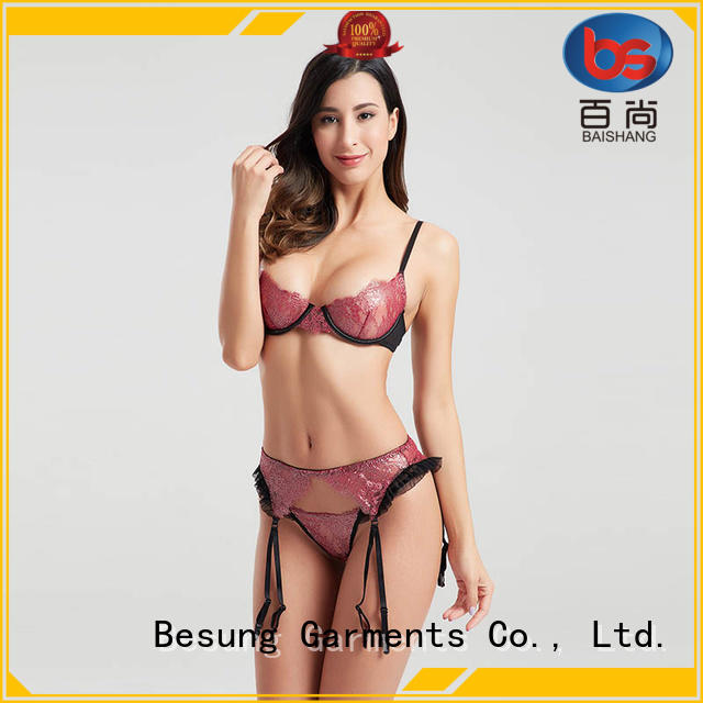 Besung threading exotic lingerie back for hotel